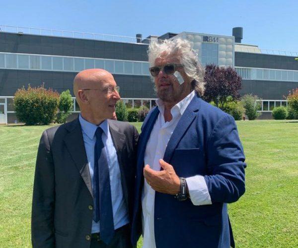 Ricerca: Beppe Grillo A Pomezia In Visita Ai Laboratori Irbm